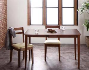ダイニングテーブルセット 2人用 椅子 一人暮らし コンパクト 小さめ ワンルーム おしゃれ 伸縮式 伸長式 安い 北欧 食卓 3点 ( 机+チェア2脚 ) ワゴン無 幅75-120 デザイナーズ クール スタイリッシュ ミッドセンチュリー 幅75 幅120