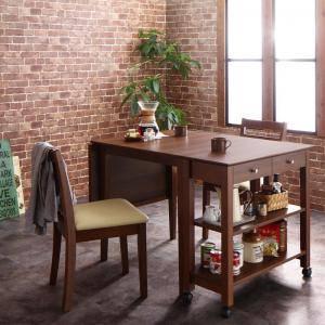 ダイニングテーブルセット 2人用 椅子 一人暮らし コンパクト 小さめ ワンルーム おしゃれ 伸縮式 伸長式 安い 北欧 食卓 3点 ( 机+チェア2脚 ) ワゴン有 幅75-120 デザイナーズ クール スタイリッシュ ミッドセンチュリー 幅75 幅120