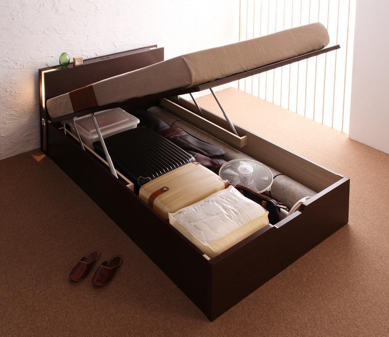 ベッド ベット 安い シングル シングルベッド シングルベット シングルサイズ 収納付き レギュラー ( 縦開 ) デュラテクノ マットレス付き ホワイト 白