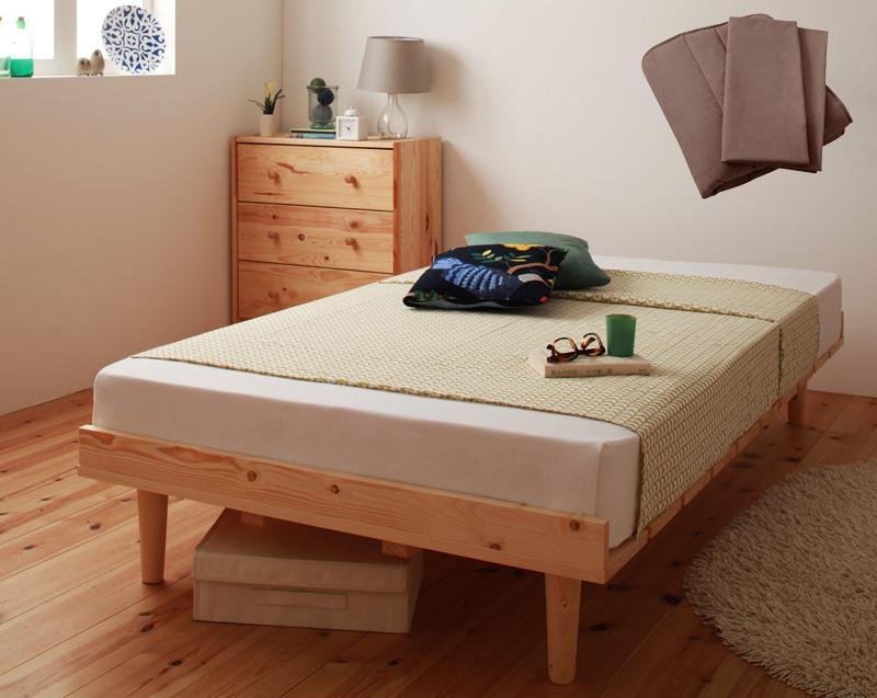ベッド 安い シングル シングルベッド シングルサイズ ( ポケット マットレス付き / レギュラー フル ) ホワイト 白 パッド+シーツ2枚 モカブラウン
