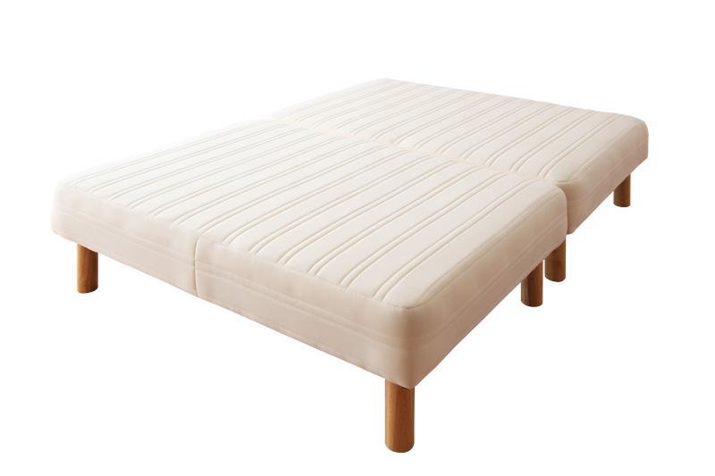ベッド ベット 安い ダブル ダブルベッド ダブルベット ダブルサイズ ローベッド 低いベッド 低い 分割式 木脚30