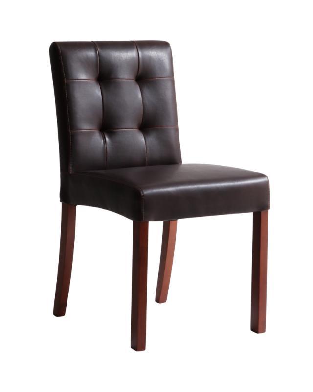 ダイニングチェア レザーチェア (同色2セット) 【 ヴィンテージブラウン 茶色 】【椅子 チェア イス いす オフィスチェア ハイバック カフェ 肘掛 肘あり 肘付き 肘置き 脚 おしゃれ かわいい 背もたれ 木製 送料無料】