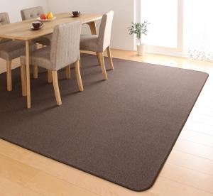 ラグ カーペット じゅうたん ラグマット 絨毯 安い 180×220 3畳 モカブラウン 茶色 おしゃれ 厚手 モダン 北欧 ダイニングラグ 撥水 ダイニングラグマット