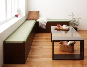 日本製 国産 畳ユニット 畳ベンチ 和 和風 ベンチ 収納 幅90 タイプ(1体)+幅180 タイプ(1体)セット ブラウン 茶色
