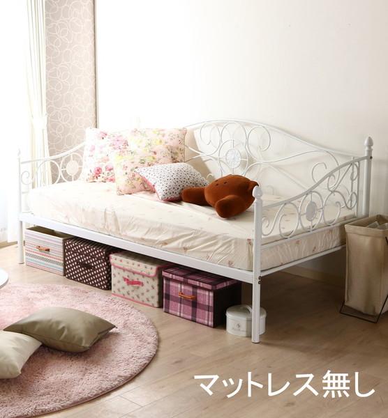 ベッド ベット 安い シングル シングルベッド シングルベット シングルサイズ ホワイト 白