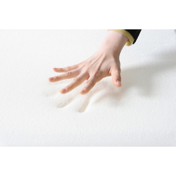 セミダブル 低反発 三つ折り 4 厚 マットレス cm ホワイト 白