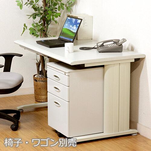 オフィスデスク スチール 事務机 パソコンデスク 机 デスク PCデスク おしゃれ 安い 北欧 シンプル オフィス 白 ホワイト パソコンラック ワークデスク 約 幅100
