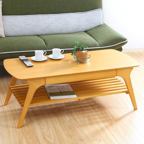 コーヒーテーブル リビングテーブル 机 ローテーブル 高さ40 ナチュラル 北欧 応接テーブル センターテーブル 木製 奥行50 デスク 幅110 おしゃれ