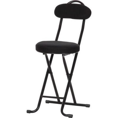 パイプ椅子 折りたたみ椅子 折り畳み椅子 イス 椅子 おしゃれ 安い 軽量 コンパクト 4脚 4脚セット ブラック 黒 背もたれ 背もたれ付き ハイタイプ ハイチェア