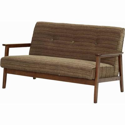 ソファー 2人掛け ソファ 2P ニ人掛け ファブリック ブラウン 茶色 ( 座椅子 ソファベッド コーナーソファ ローソファ リクライニング カウチ リビング ) 低い