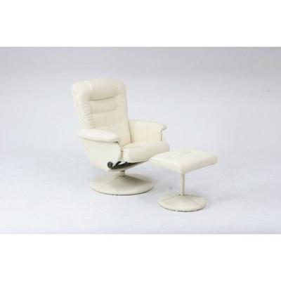 リクライニングチェアー 足置き ホワイト 白 【 椅子 チェアー イス いす パーソナルチェアー フットレスト ハイバック ヘッドレスト ソファー 1人掛け 1P 送料無料 ポイント 】