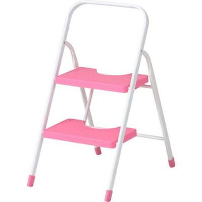 ステップ台 ステップ 踏み台 足場 脚立 脚立足場 階段 梯子 おしゃれ 安い 軽量 コンパクト はしご 折りたたみ 4個 2段 二段 ピンク 足場台