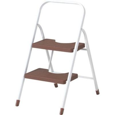 ステップ台 ステップ 踏み台 足場 脚立 脚立足場 階段 梯子 おしゃれ 安い 軽量 コンパクト はしご 折りたたみ 4個 2段 二段 ブラウン 茶色 足場台