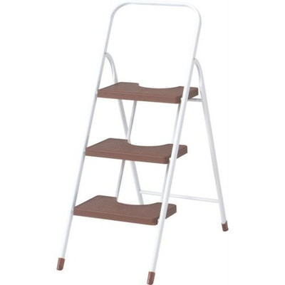 ステップ台 ステップ 踏み台 足場 脚立 脚立足場 階段 梯子 おしゃれ 安い 軽量 コンパクト はしご 折りたたみ 4個 3段 三段 ブラウン 茶色 足場台