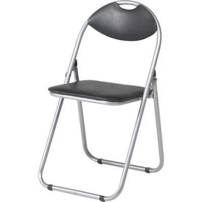 パイプ椅子 折りたたみ椅子 折り畳み椅子 イス 椅子 チェア おしゃれ 安い 軽量 コンパクト 6脚 会議イス ブラック 黒 背もたれ 背もたれ付き 会議 格安