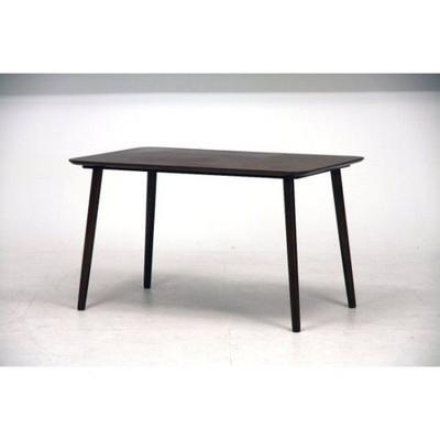 ダイニングテーブル 120x75 ダークブラウン 茶色 【 食卓 北欧 リビング 送料無料 ポイント 】