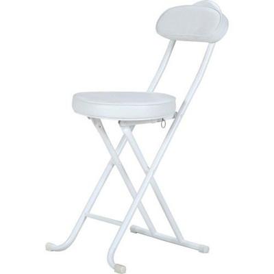 パイプ椅子 折りたたみ椅子 折り畳み椅子 イス 椅子 チェア おしゃれ 安い コンパクト 4脚 4脚セット ホワイト 白 会議イス 背もたれ 背もたれ付き 会議 格安