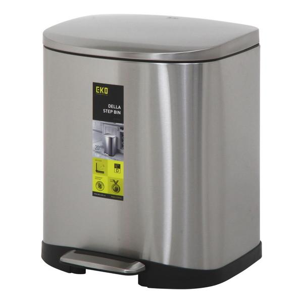 ゴミ箱 おしゃれ ごみ箱 ダストボックス スリム 縦型 オフィス トイレ キッチン リビング カフェ シルバー 幅35 奥行34 高さ43