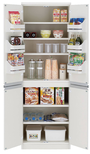 食器棚 おしゃれ 北欧 安い 完成品 キッチン 収納 棚 ラック 木製 キッチンボード カップボード ハイタイプ 大容量 約 幅60 白 日本製