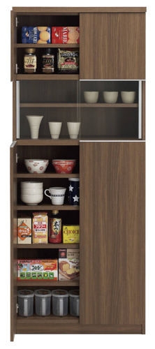 食器棚 おしゃれ 北欧 安い 完成品 キッチン 収納 棚 ラック 木製 キッチンボード カップボード ハイタイプ 大容量 約 幅75 ヴィンテージ 日本製