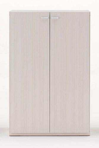 下駄箱 シューズラック シューズボックス 靴箱 オフィス おしゃれ 北欧 収納 安い 薄型 スリム 約 幅75 ?完成品 木製 ホワイト ロータイプ 扉
