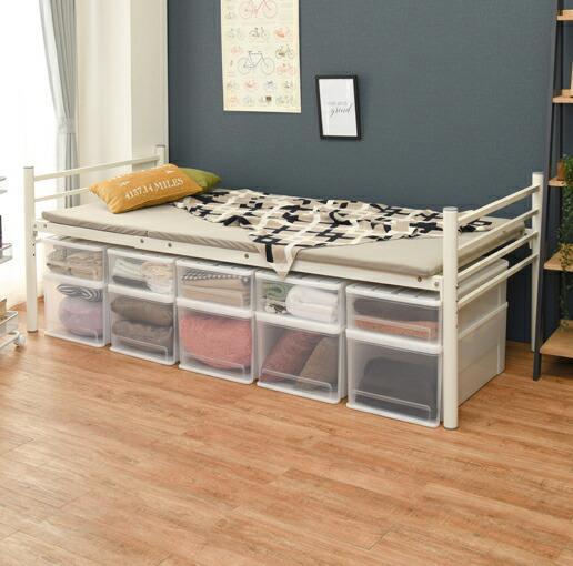ベッド シングル ロングサイズ 約 55cm 幅100×奥行220×高さ80×床面高45 日本正規代理店品 公式 50