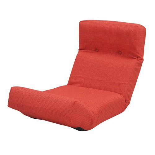 座椅子 リクライニング レッド 赤 ( 低反発 座いす チェア チェアー 1人掛け ソファー ソファ 座イス 低い 低い椅子 )