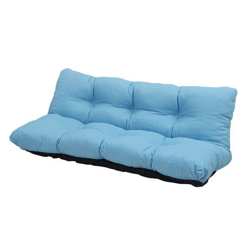 ローソファ カウチソファー 2人掛け 座椅子 リクライニングチェア 160幅 ブルー 青 【低反発 座椅子 座いす チェア チェアー 1人掛け ソファー ソファ 座イス リクライニング 送料無料】