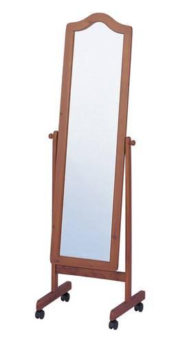 スタンドミラー 木製 ブラウン 茶色 【全身鏡 姿見 鏡 ミラー スタンドミラー 壁掛け 木製 スチール 鏡面 フレーム 飛散防止 吊鏡 全身 送料無料】