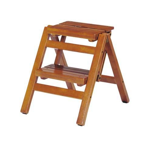 踏み台 ステップ スツール 折りたたみ 2段 ブラウン 茶色 【踏み台 ステップ はしご 脚立 梯子1段 足場台 足場 送料無料】