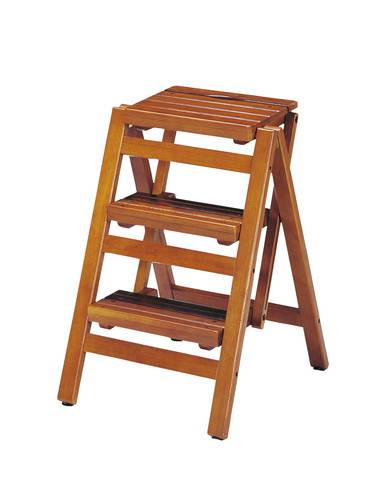 踏み台 ステップ スツール 折りたたみ 3段 ブラウン 茶色 【踏み台 ステップ はしご 脚立 梯子 1段 足場台 足場 送料無料】