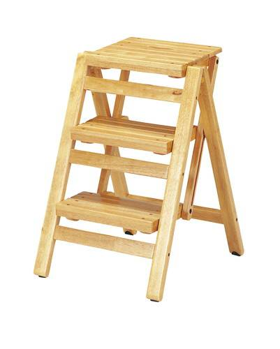 踏み台 ステップ スツール 折りたたみ 3段 ナチュラル 【踏み台 ステップ はしご 脚立 梯子 1段 足場台 足場 送料無料】