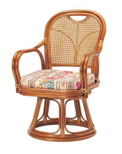 座椅子 回転 籐 ラタン 回転椅子 ミドルタイプ ( SH390 ) 低反発 座いす チェア チェアー 1人掛け ソファー ソファ 座イス 低い 低い椅子 リクライニング 回転