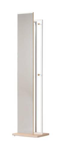 スタンドミラー ハンガーラック 低い コートハンガー ナチュラル ( 全身鏡 姿見 鏡 ミラー 壁掛け フレーム 吊鏡 全身 )