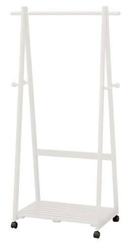 ハンガーラック 低い 木製 コートハンガー ホワイト 白 ( コートハンガー パイプハンガー ポールスタンド 帽子掛け 衣類収納 整理 )