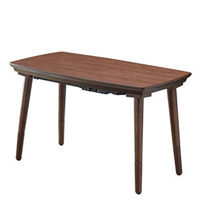 ダイニングテーブル こたつ おしゃれ 安い 北欧 食卓 テーブル 単品 2人用 二人用 コンパクト 小さめ 一人暮らし 90×50 昇降式 高さ調整 ロータイプ 低め モダン ウォールナット 机 カフェテーブル