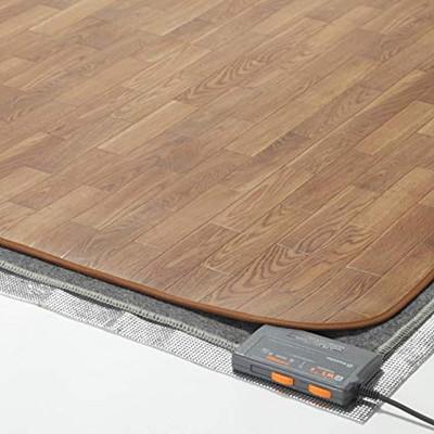 ラグ カーペット じゅうたん ラグマット 絨毯 安い ホットカーペット 防水 木目調 カバー セット 2畳 (198×200) マット 電気マット 厚手 長方形 四角 洗える