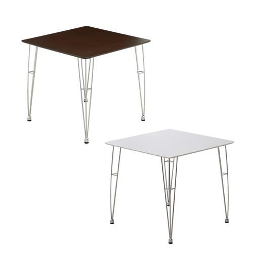ダイニングテーブル おしゃれ 安い 北欧 食卓 テーブル 単品 正方形 2人用 二人用 コンパクト 小さめ 一人暮らし 75×75 モダン アイアン脚 机 会議用テーブル カフェテーブル ミーティングテーブル
