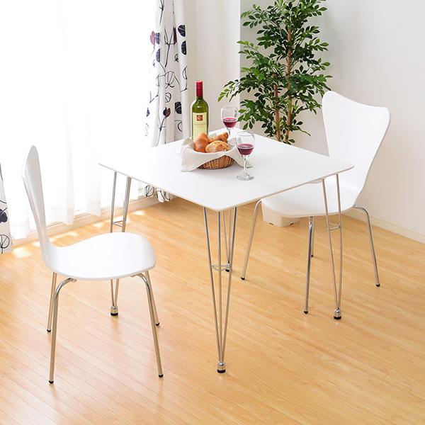 ダイニングテーブルセット ダイニングセット おしゃれ 安い 北欧 食卓 正方形 2人用 二人用 コンパクト 小さめ 一人暮らし 75×75 椅子 2脚 白 アイアン モダン カフェテーブル