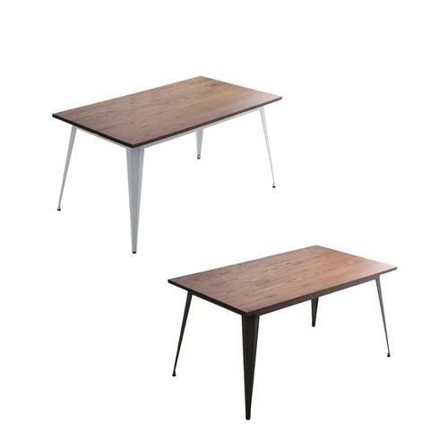 四人用 4人用 ビンテージ 西海岸 アメリカン ブルックリン ダイニングテーブル 140cm幅 木製 食卓テーブル ダイニング テーブル カフェテーブル 食卓 ソファテーブル リビング 机 コーヒーテーブル 台所 家具 インテリア 北欧 モダン シンプル おしゃれ 食事