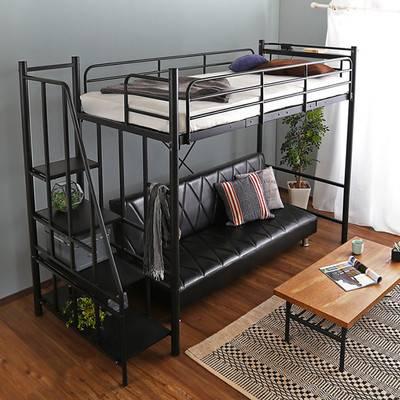 階段 パイプベッド ロフトベッド 高さ調整 ロー ロータイプ 収納 頑丈 丈夫 棚 棚付き コンセント付き ベッド システムベッド ミドルベッド シングルベッド シングルベット シングルサイズ シングル 一人暮らし
