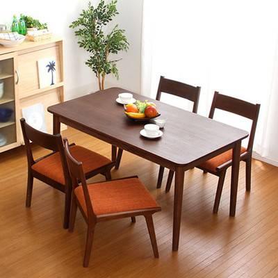 ダイニングテーブルセット ダイニングセット おしゃれ 安い 北欧 食卓 4人用 四人用 3人 130×75 椅子 4脚 ブラウン カントリー