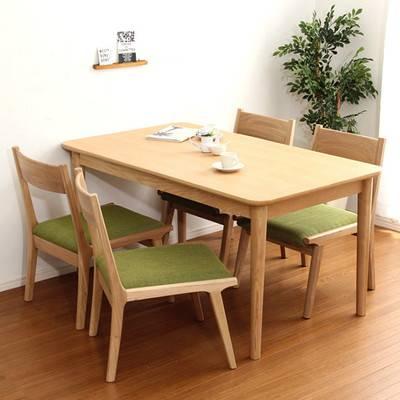 ダイニングテーブルセット ダイニングセット おしゃれ 安い 北欧 食卓 4人用 四人用 3人 130×75 椅子 4脚 ナチュラル カントリー