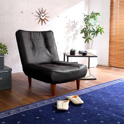 一人暮らし コンパクト ミニ 日本製 ハイバック パーソナルチェア レザー 革 ローソファ フロアソファ リクライニング 北欧 ソファー 1Pソファー 低い