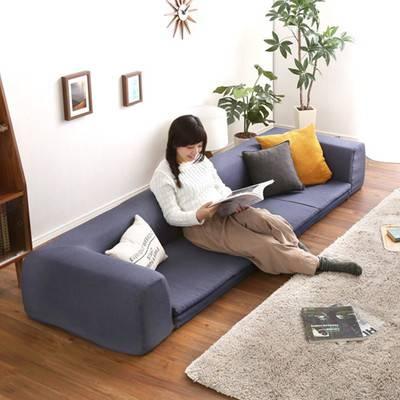 日本製 ローソファー フロアソファー Lサイズ 幅250cm 洗える ウォッシャブル カバー ソファー 3Pソファー 三人掛けソファー 3人掛けソファー 3P 3人掛け 低い