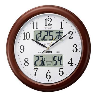シンプル 洋風 北欧 温度計 電波時計 カレンダー ライト 照明 保証 時計 壁掛け 壁掛け時計 掛け時計 壁時計 ウォールクロック 掛時計 インテリア時計 デザイン時計 クロック