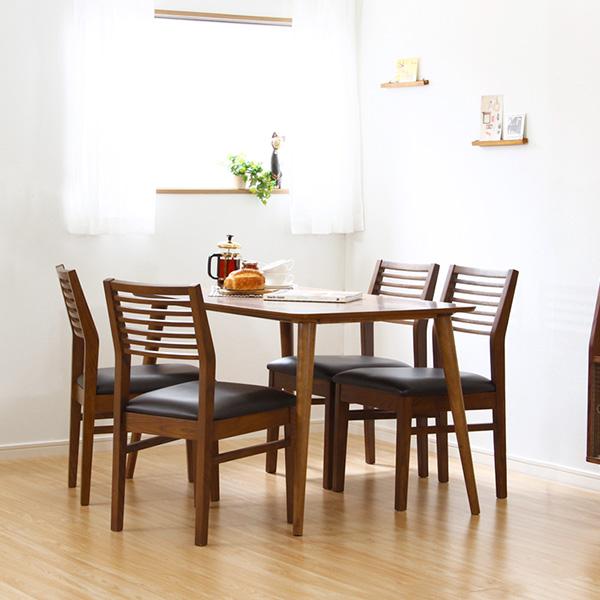 ダイニングテーブルセット ダイニングセット おしゃれ 安い 北欧 食卓 4人用 四人用 3人 120×75 椅子 4脚 ブラウン カントリー