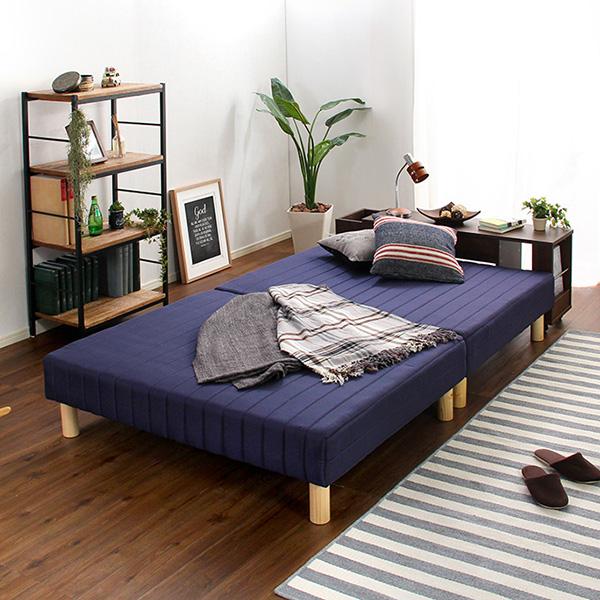 ベッド 安い シングル シングルベッド シングル シングルサイズ ローベッド 低いベッド 低いベッド 低い マットレス付き ベッド (ラック付)(ボンネル マットレス コイル・シングル用), CYAN SHOP:599d9558 --- officewill.xsrv.jp