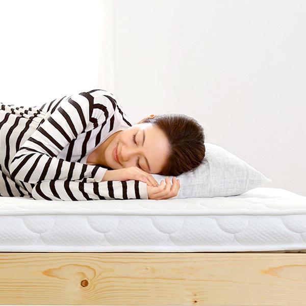 あす楽 腰痛 コンパクト ロフトベッド 薄型 お昼寝 セミシングル ポケットコイル 子供用 ミニ 来客用 2段ベッド ベッドマット マットレス 仮眠
