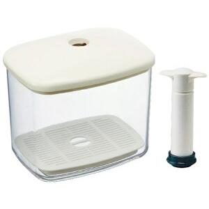 真空密封でパンの乾燥を防いで 値引き 鮮度長持ち 真空パンケース 新入荷 流行 真空ポンプ スノコ付